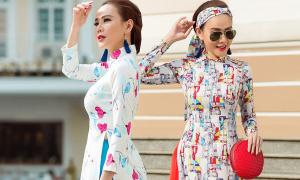Quý cô Sài Gòn diện áo dài cổ điển dạo phố xuân