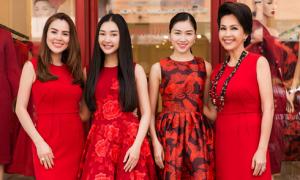 Dàn người đẹp diện váy áo đỏ rực, hội ngộ đầu năm mới