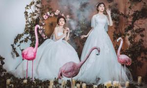 Váy cưới xuân hè 2018: Kín đáo mà gợi cảm