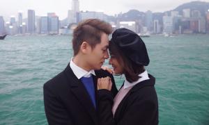 Đăng Khôi tình cảm với 'em gái mưa' Thanh Vy ở Hong Kong