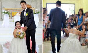 Cặp đôi chú rể cao gấp đôi cô dâu ở Philippines