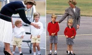 Những lần 'cố tình' cho hai con trai diện đồ đôi của Công nương Diana