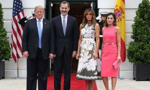 Bà Melania Trump đọ dáng bên Hoàng hậu Tây Ban Nha