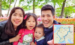 Hành trình tự lái xe đưa hai con đi khắp châu Âu của đôi vợ chồng Việt