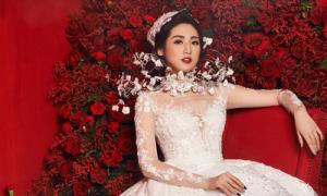 Những lần Á hậu Tú Anh hóa thân thành cô dâu trước khi lên xe hoa