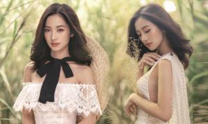 Jun Vũ diện váy ren tôn hình thể mảnh mai