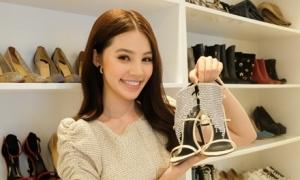 Tủ giày trăm đôi toàn hàng hiệu của mỹ nhân Việt