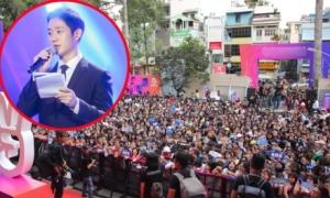 Khán giả Việt trèo tường, chen lấn gặp tài tử 'Chị đẹp mua cơm ngon cho tôi'