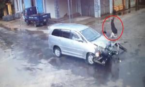 Quái xế tử vong vì phóng với tốc độ cao tông vào ôtô