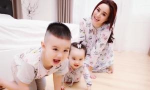 Con trai Vy Oanh thích pha trò chọc em cười