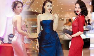 Mỹ nhân Việt chuộng váy xiết eo
