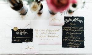 10 ý tưởng trang trí đám cưới với sắc đen huyền bí