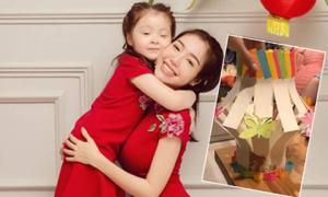 Elly Trần làm đèn lồng trung thu bằng giấy cho con trong vài phút