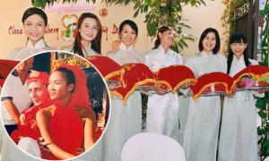 Anh Thư, Thân Thúy Hà bưng tráp trong đám cưới Bằng Lăng cách đây 12 năm
