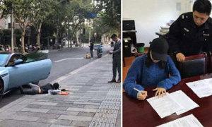Tiểu thư bị cảnh sát phạt khi chụp ảnh 'ngã sấp mặt'