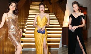 Dàn sao Việt diện váy xẻ cao trên thảm đỏ