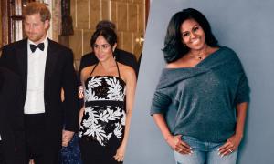 Bà Obama 'về phe' Meghan khi nghe tin hoàng gia mâu thuẫn
