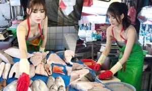 Cô bán cá nóng bỏng nhất Đài Loan