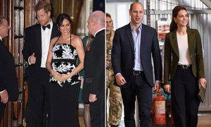 Vợ chồng Kate-William không đến sự kiện có Meghan-Harry