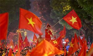 Hàng nghìn cảnh sát Hà Nội giữ an ninh trận chung kết lượt về