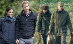Meghan không muốn Harry đi săn cùng bố và anh trai