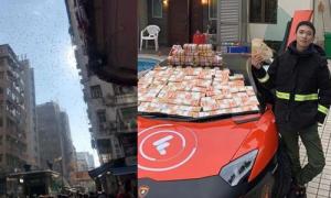Triệu phú Hong Kong bị bắt vì tạo ra 'cơn mưa' tiền trên phố