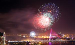 Màn pháo hoa 15 phút trên sông Hàn chào năm mới