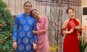 Sao Việt chọn áo dài chưng diện ngày đầu năm