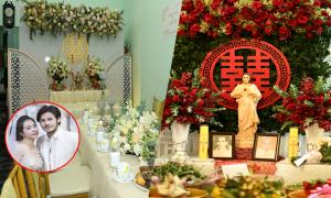 Không gian lễ vu quy, tân hôn của Vũ Ngọc Ánh - Anh Tài