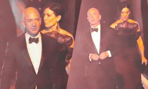Tỷ phú Amazon dự tiệc Oscar với người phụ nữ bí ẩn