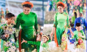 Vy Oanh, Hà Kiều Anh cùng dàn sao dắt con lên sàn diễn