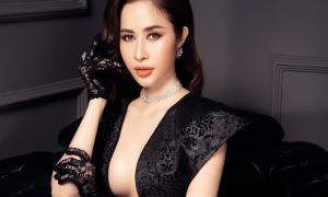 Princess Ngọc Hân mặc hở bạo với trang phục dạ hội