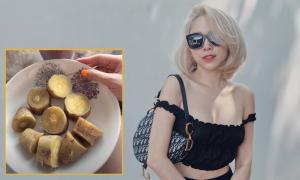 Tóc Tiên chăm ăn khoai lang thay cơm để giữ dáng