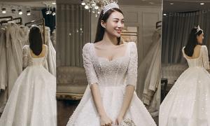 Hé lộ loạt ảnh đi thử váy cưới của Lê Hà The Face