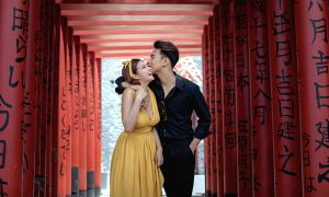 Ảnh cưới chụp tại Vũng Tàu ngỡ như ở Nhật Bản