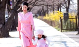 Hà Kiều Anh cùng con gái dạo chơi ở Hàn Quốc