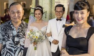 Dàn nghệ sĩ Hà Nội dự tiệc cưới lần ba của NSND Trung Hiếu