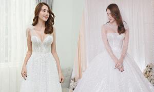 2 váy cưới trị giá nửa tỷ đồng của Lê Hà