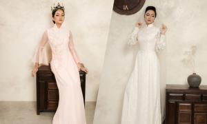 Hoa hậu H'Hen Niê diện áo dài cô dâu
