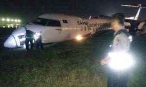 Máy bay vỡ làm ba vì trượt khỏi đường băng khi hạ cánh ở Myanmar