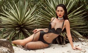 'Bom sex' Quỳnh Thy khoe body với áo tắm