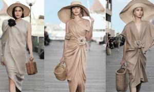 Đỗ Mạnh Cường lăng xê váy linen, túi cói cho Xuân Hè 2019