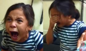 1001 kiểu biểu cảm của cô bé sợ tiêm