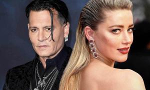 Amber Heard vui vẻ, Johnny Depp căng thẳng giữa kiện tụng ly hôn