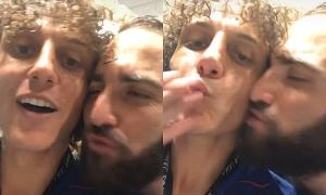 Được Higuain hôn, David Luiz nói 'yêu lắm'