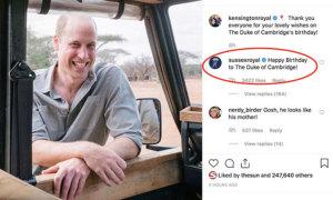 Fan thất vọng với lời chúc sinh nhật William của vợ chồng Harry