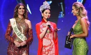 Phương Khánh mặc áo dài dự Hoa hậu Trái đất Mỹ