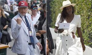 Boris Becker đi xem quần vợt cùng 'bạn gái tin đồn' kém 20 tuổi