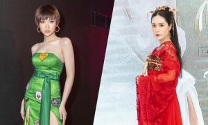 Hoa hậu chuyển giới Nhật Hà khoe ngực đầy đến mừng Di Băng
