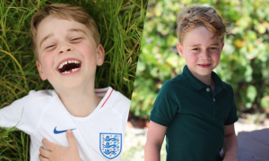 Hoàng tử George khoe răng sún trong ảnh sinh nhật 6 tuổi